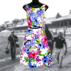 BLACK LABEL Floral Retro Rockabilly Dress